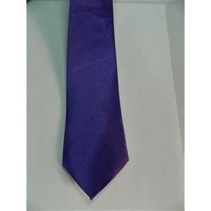 CRAVATE - NŒUD PAPILLON Cravate Homme Femme mauve violet Unie Satin 135cm