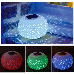 DÉCORATION LUMINEUSE Décoration Lumineuse Lampe Solaire Céramique à 2 L