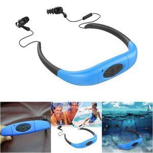 LECTEUR MP3 IPX8 MP3 Étanche Lecteur de Musique de natation 8G