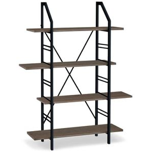 bibliotheque style industriel achat vente pas cher. Black Bedroom Furniture Sets. Home Design Ideas