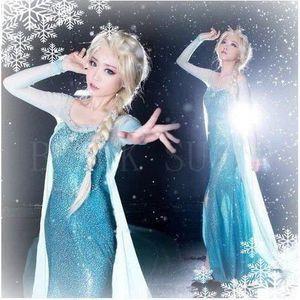 DÉGUISEMENT - PANOPLIE Robe Adulte Déguisement Elsa Princesse avec traine