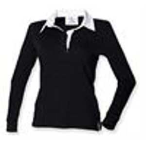 Front Row Long Sleeve Classic Shirt Rugby clair rose/ Blanc L 5OBFg9R
