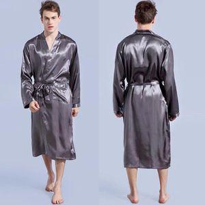 253e9a055539e ROBE DE CHAMBRE Pyjama satin hommes Kimono Peignoir Robe Robe de c