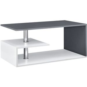 TABLE BASSE Table basse anthracite Blanc  90 cm