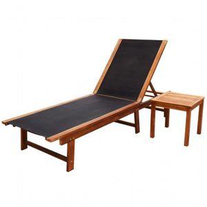 chaise longue de jardin en bois pas cher