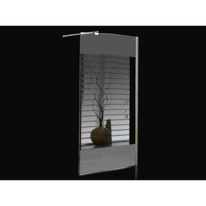 Paroi de douche miroir achat vente paroi de douche miroir pas cher cdiscount - Paroi de douche italienne avec porte ...