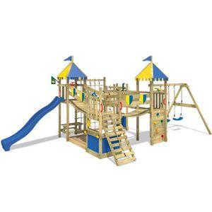 STATION DE JEUX Aire de jeux  WICKEY Smart King Portique en bois T