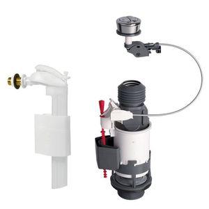 RESERVOIR WC WIRQUIN - Mécanisme double poussoir + robinet alim