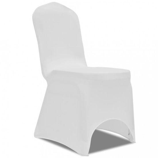 Housses Pour Chaise Pieces Blanche Extensible Housse 6 6bg7yf