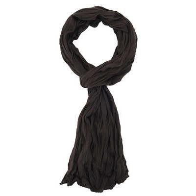 d6a8990fc175 Chèche foulard Uni mixte Aspect froissé - Marron - Achat   Vente ...