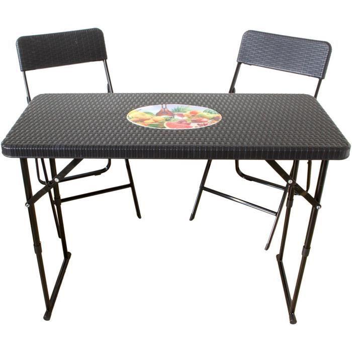 Table Pliante Avec 2 Chaises Ensemble De Balcon A