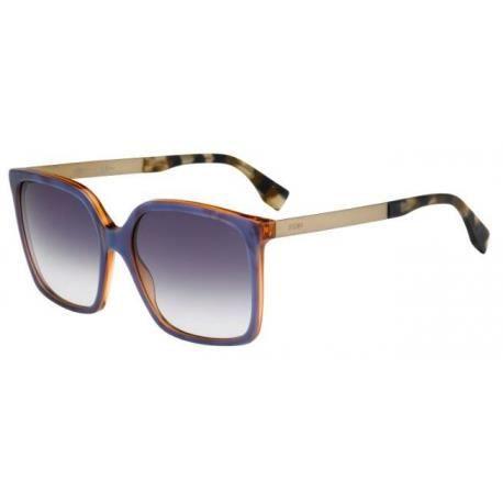 806f6a3bfba25c Achetez Lunettes de soleil Fendi Femme FF 0076 S DXI (DG) bleues, orange et  cr egrave me