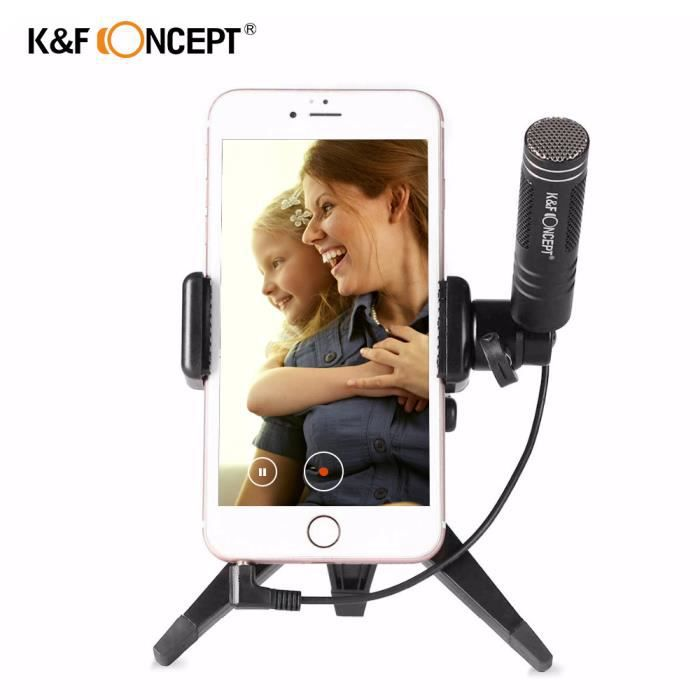 Brand Condenser Microphone Mic Light Pour Iphone / Android Smartphones Ipad Ipod Touch Dispositifs Avec Trépied Mobile