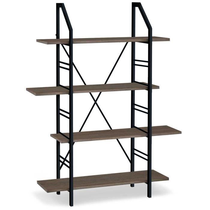 bibliothque style industriel dans un style industriel la bibliothque jimmy est ralise partir de. Black Bedroom Furniture Sets. Home Design Ideas
