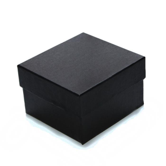 boite a montre carton noir achat vente boite a montre rouge cdiscount. Black Bedroom Furniture Sets. Home Design Ideas