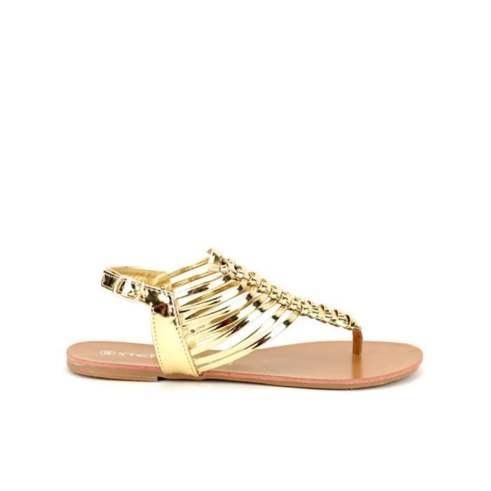 99b6f1153293 Tongs Doré Chaussures Femme, Cendriyon Doré - Achat / Vente tong ...