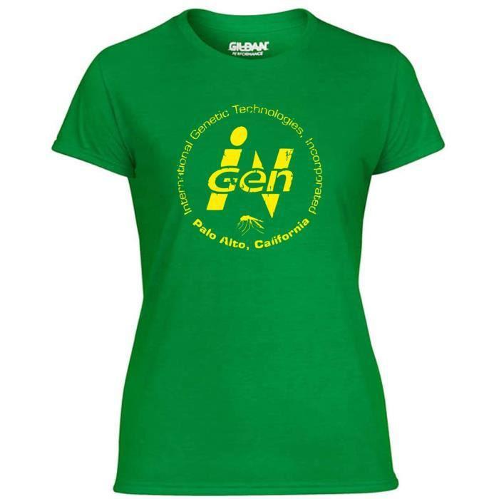 T Shirt Femme Tf0092 Inspired By Jurassic Park Vert Vert Achat
