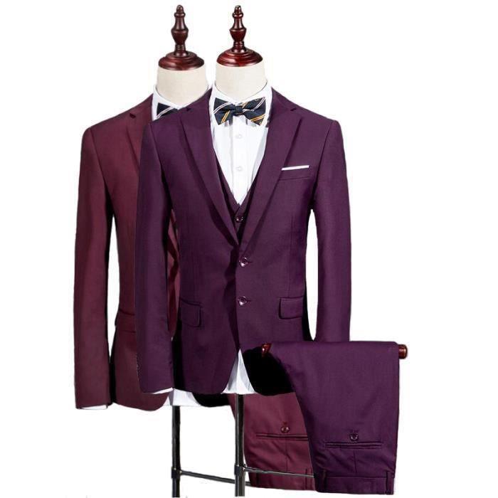 382ab5a2e97 Jtong costume homme 3 pieces mariage - Achat   Vente pas cher