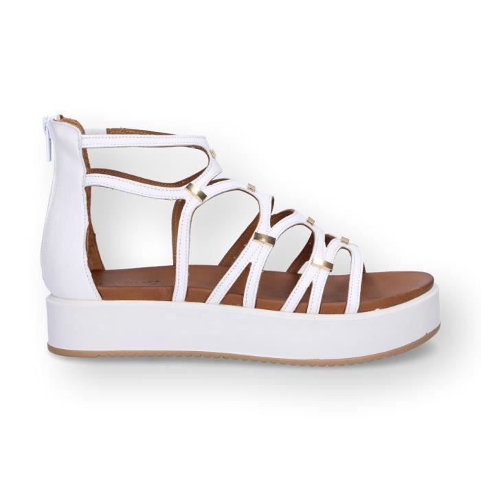 Sandales Inuovo Femme Blanc Cuir 7326white Achat 2EHIWDY9