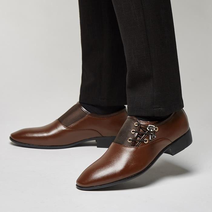 Veberge@Modern Classic Lace Up Oxfords perforé Doublé cuir