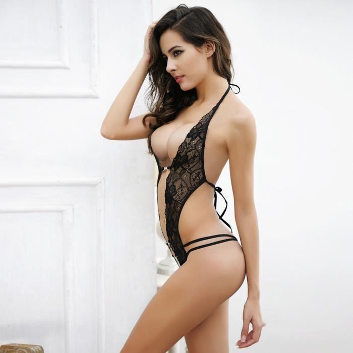 512c30fac75 ENSEMBLE DE LINGERIE Femmes Lingerie Sexy Chest Un fichier ouvert Sous-