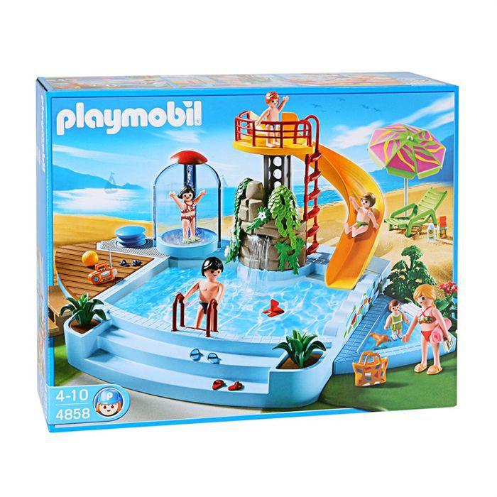 playmobil 4858 piscine et toboggan achat vente univers