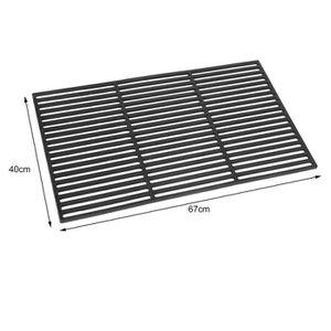 Grille barbecue 67x40 achat vente grille barbecue 67x40 pas cher cdiscount - Grille en fonte pour barbecue ...