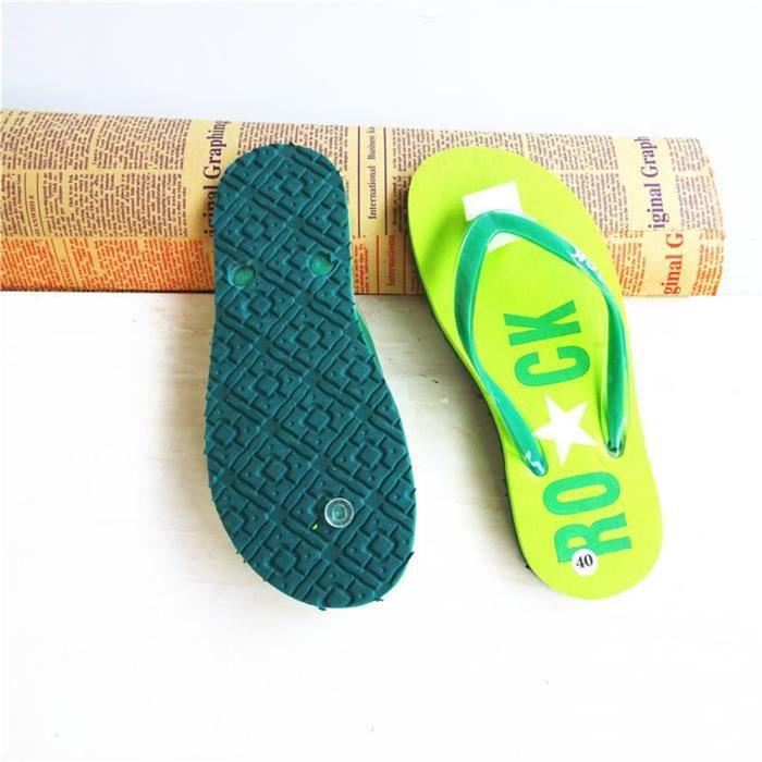 pantoufle été Poids Léger nouvelle marque de luxe chaussure Durable Haut qualité chaussures sandalessandale de dssx120bleu36