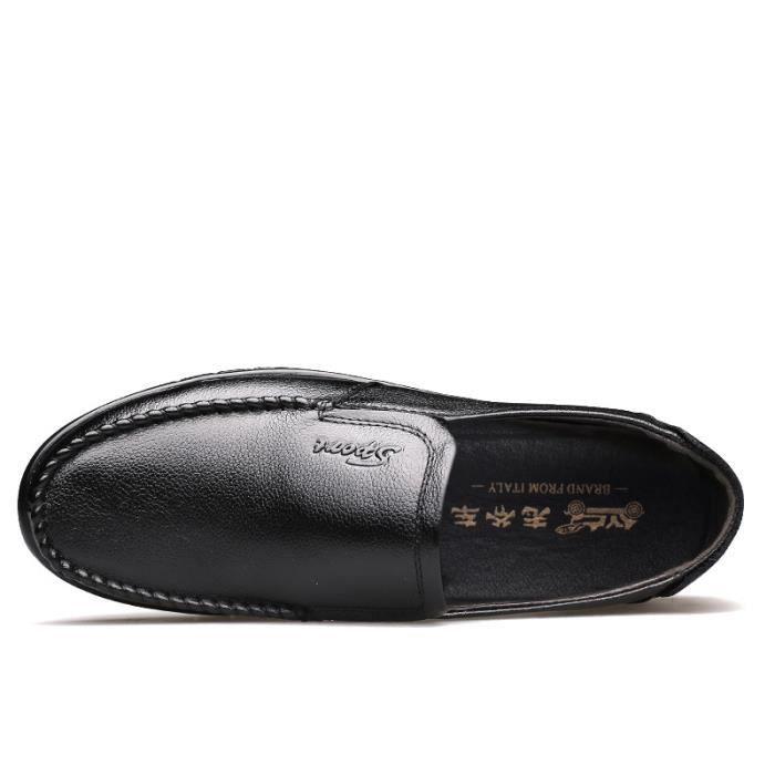 JOZSI Chaussures Hommes Cuir PUConfortable en Cuir Homme chaussure de ville SHT-XZ189Marron38 qmWykePw