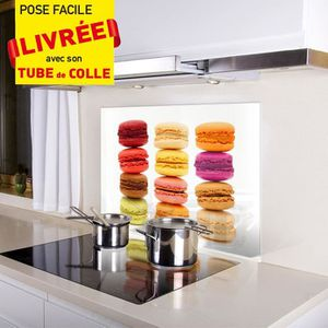 credence de cuisine en verre achat vente credence de cuisine en verre pas cher cdiscount. Black Bedroom Furniture Sets. Home Design Ideas
