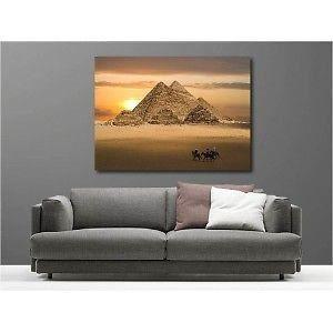 TABLEAU - TOILE Tableaux toile déco Egypte Pyramide 2271107 Dimens