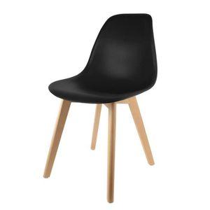 CHAISE Chaise scandinave coque noire Autres Noir