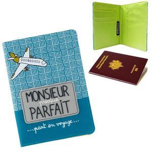 PORTE PAPIERS Protège Passeport PARFAIT - Etui Pochette Pour Bil