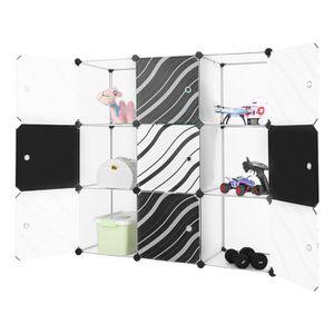 ARMOIRE DE CHAMBRE Finether 9-Cube Blanc Cabines Armoires Étagères Av