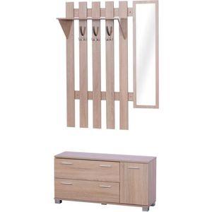 MEUBLE À CHAUSSURES Ensemble de meubles d'entrée 3 pièces meuble chaus
