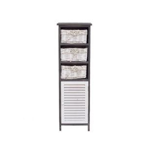 COLONNE - ARMOIRE SDB Mobili Rebecca® Commode Mueble d'appoint 1 Port 3