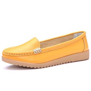 MOCASSIN Femme casual chaussures plates Mocassins Jaune