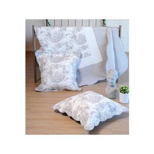 couvre lit toile de jouy achat vente couvre lit toile. Black Bedroom Furniture Sets. Home Design Ideas
