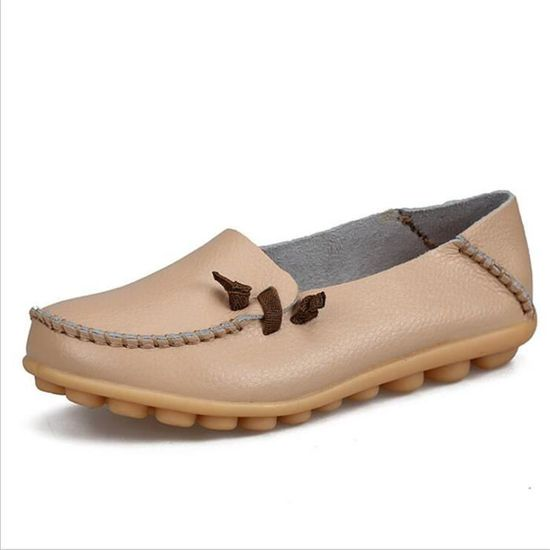 2017 Respirant Cuir Luxe Taille De Moccasin Confortable Loafer Cool Chaussures Ete Femmes Grande Marque Nouvelle 5LAjR4