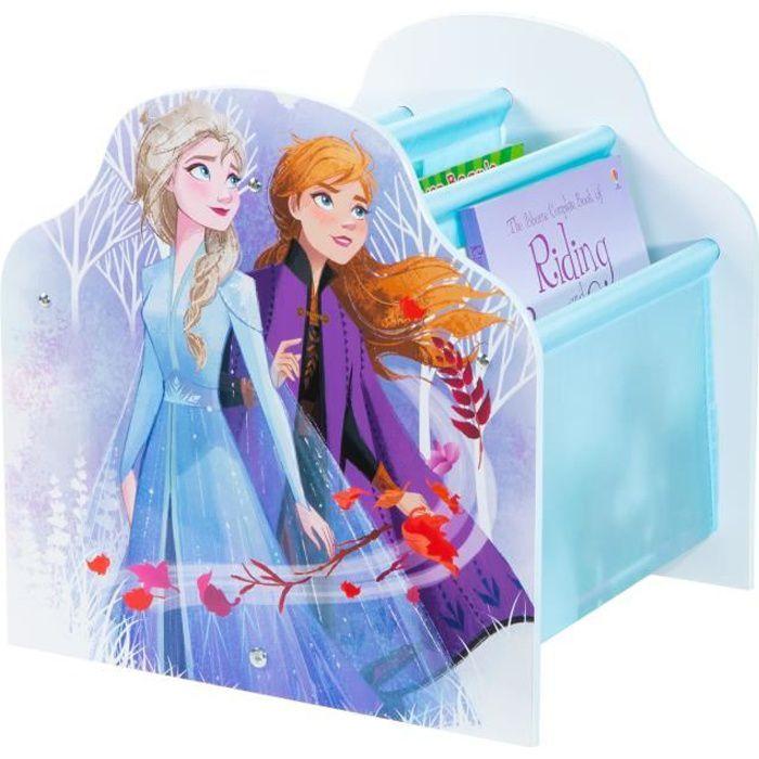 La Reine des Neiges - Bibliothèque à pochettes pour enfants - Rangement de livres pour chambre d'enf