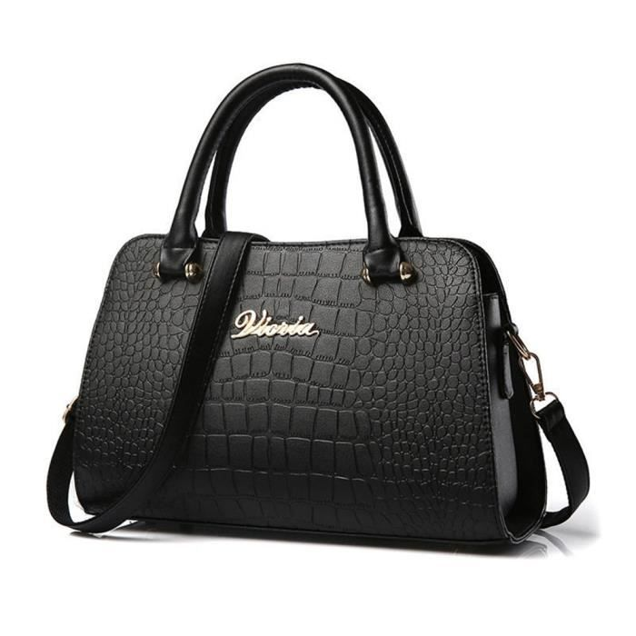 e6319d3227 sacs femmes marque de luxe Sac Marque De Luxe Femme Cuir sac femme de marque  qualité supérieure noir Sac De Luxe Les Plus Vendu