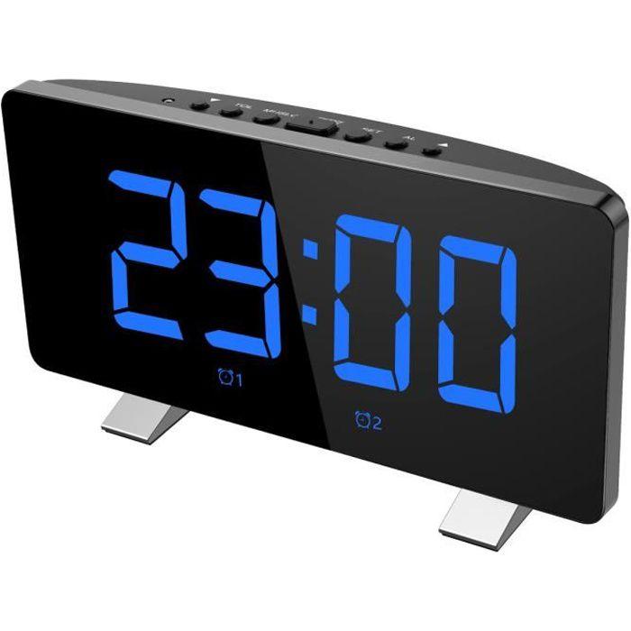 Radio Réveil Projecteur,12/24 Heures, 3 Niveaux De Luminosité, Angle Réglable À 180 °,port Charge Usb