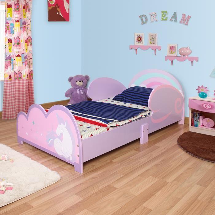 9813e090c68d43 LANGRIA Lit à Thème Pegasus d Enfant Bébé pour Garçon Fille Jeunes à  Chambres d Enfants Violet