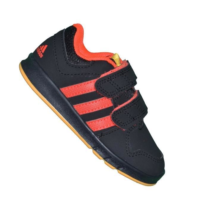 Adidas - Basket Bebe - Lk Trainer 6 - Noir Rouge Infrared