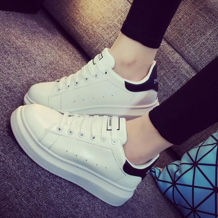 Pures Chaussures Couleur Plate forme Sport Femm...