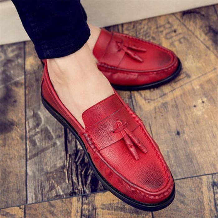 Cuir Élégantrésistantes Luxe L'usure Marque Qualité Beau Chaussures En À Homme Haut De 3L54jcARq