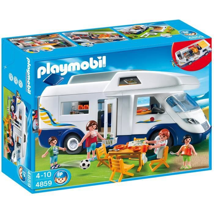 Playmobil 4859 grand camping car familial achat vente for Piscine playmobil 5433