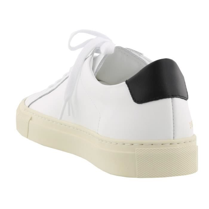 COMMON PROJECTS FEMME 38390547 BLANC CUIR BASKETS