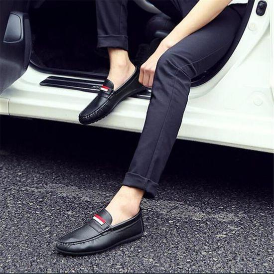 Moccasin Homme Haut qualité En Cuir Nouvelle arrivee Moccasins Confortable Respirant Chaussure Durable Grande Taille 39-44 ylx084 wbmT3hQzlS