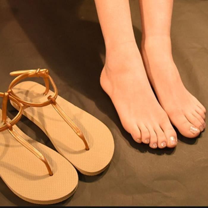 Sandales Mode d'extérieur Chaussures plates confortables